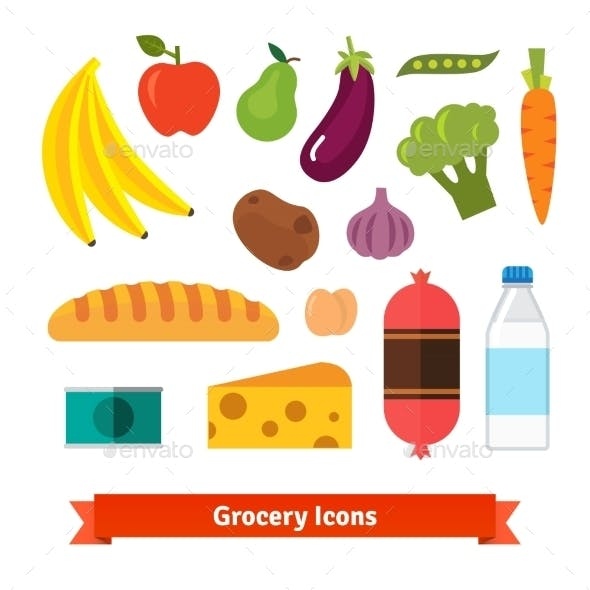 Classic Vegetables, Fruits and Groceries