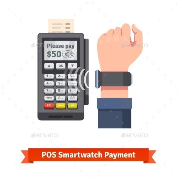 Smart Watch POS Terminal Payment