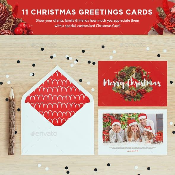 11 Christmas Greetings Cards