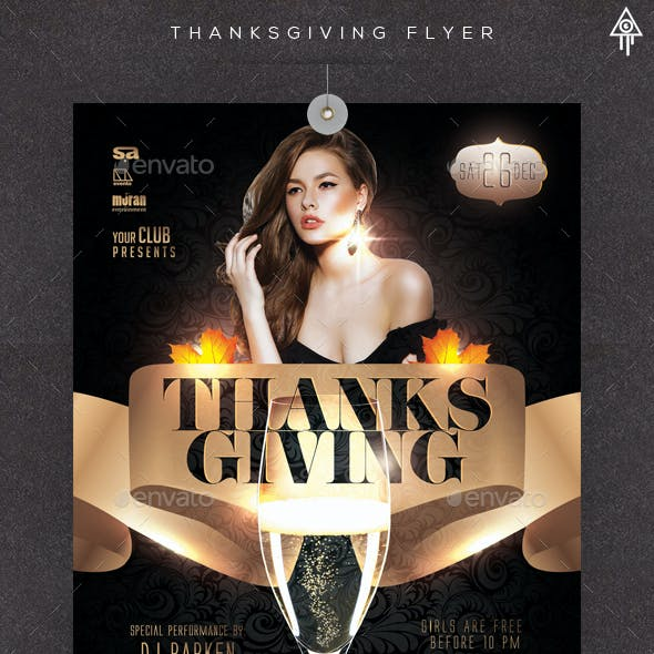 Thanksgiving Night Party Flyer