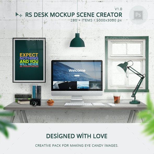 RS Desk Mockup Scene Creator