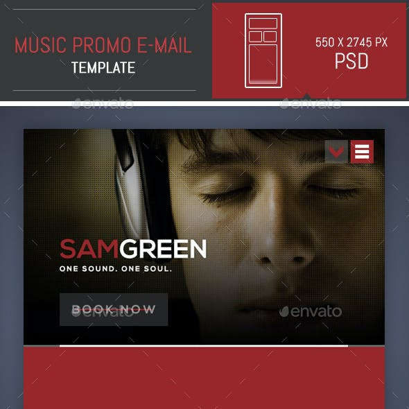 Dj Music Promo PSD E-mail Template