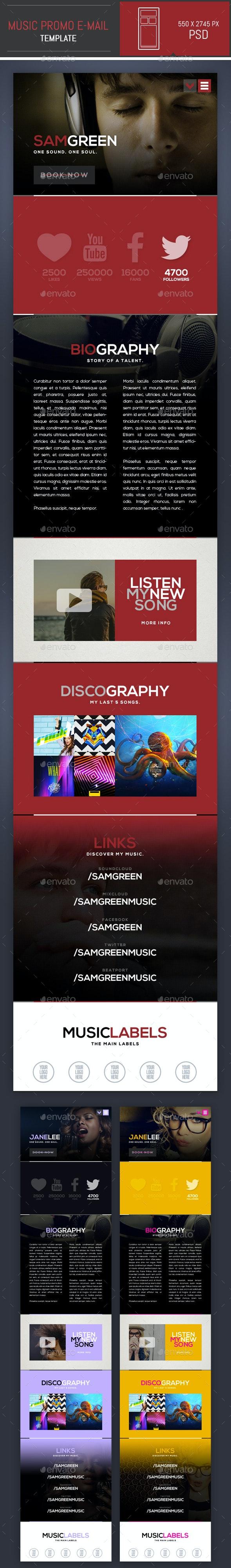Dj Music Promo Psd E Mail Template