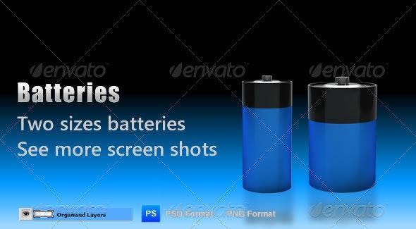 Batteries - Objects 3D Renders