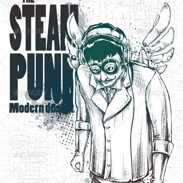 Steampunk musical poster