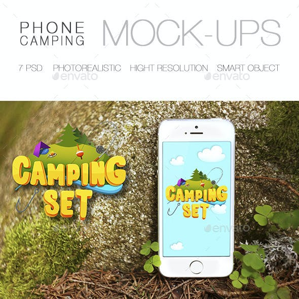 Camping Phone Mock-Up