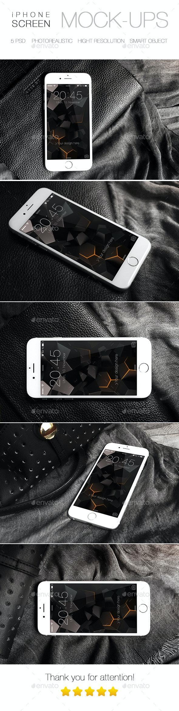 Photorealistic iPhone 6 Mock-Up - Mobile Displays