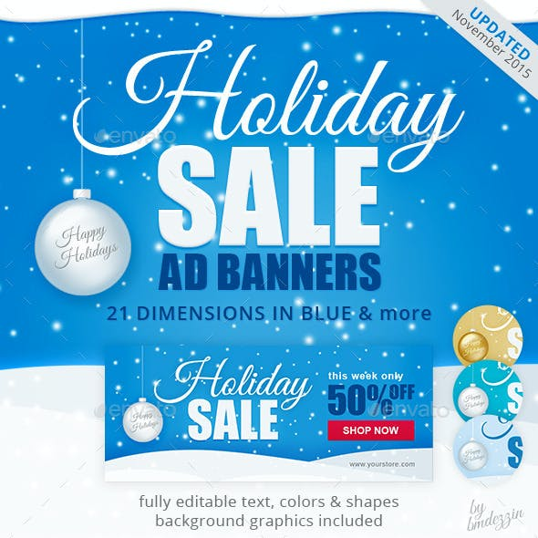 Holiday Sale Web Ad Banners