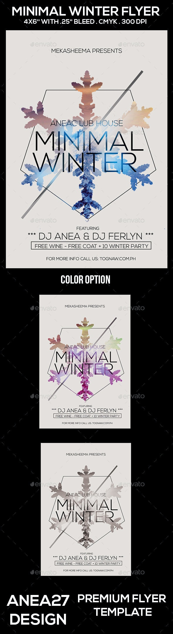 Minimal Winter Flyer - Clubs & Parties Events