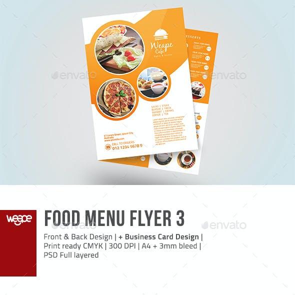 Food Menu Flyer 3