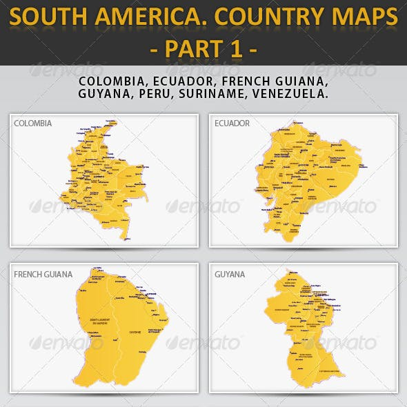 South America. Country Maps - Part 1