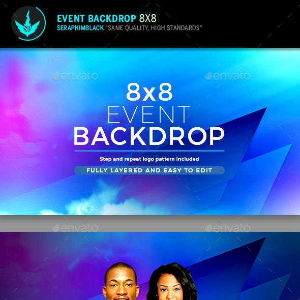Abstract 8x8 Step and Repeat Event Backdrop