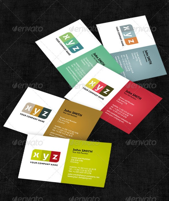 5 Colorful Business Cards - Creative Business Cards