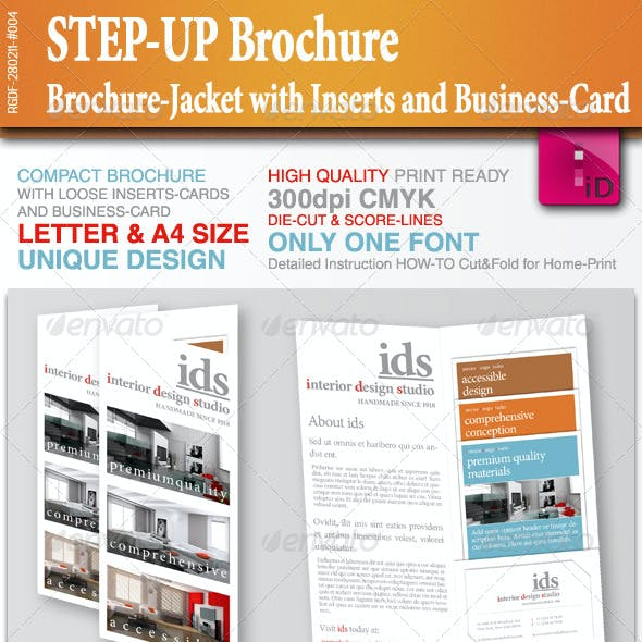 STEP-UP Brochure with Inserts and Business-Card