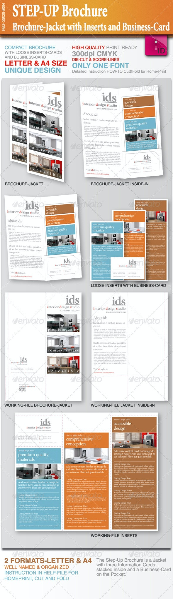STEP-UP Brochure with Inserts and Business-Card - Corporate Brochures