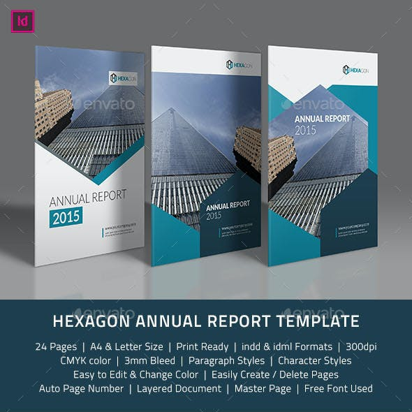 Hexagon Annual Report Template