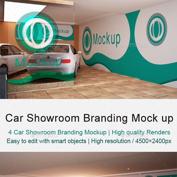 Car Showroom Branding Mock up