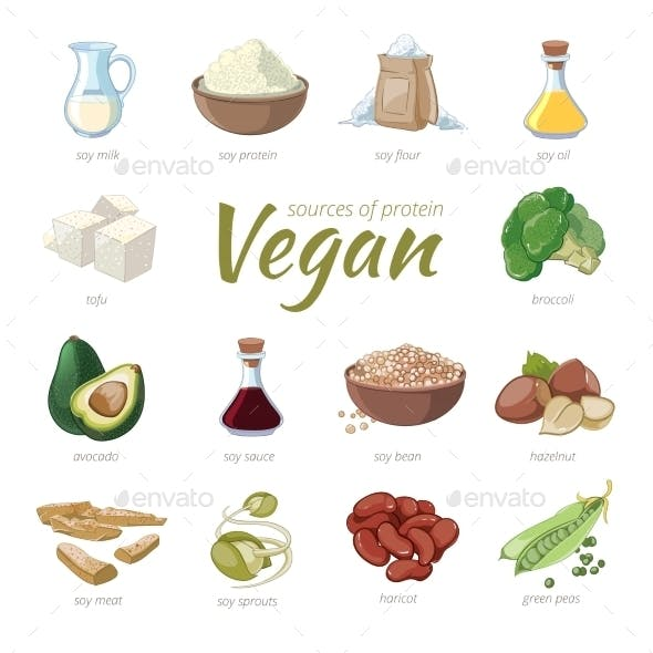 Vegan Sources Of Protein. Plant Based Protein