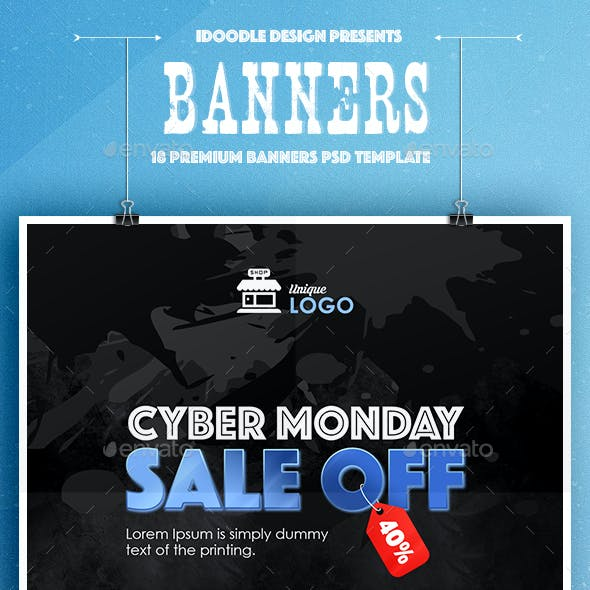 Cyber Monday Banners Ad