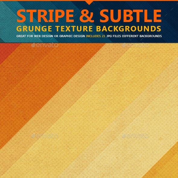 Stripe & Subtle Grunge Texture Backgrounds
