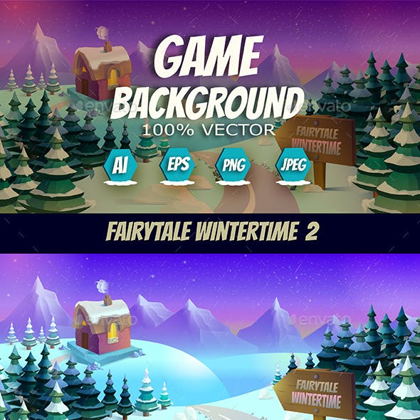 Fairytale Wintertime Snow Background