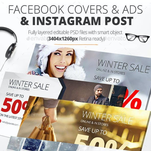 Facebook Covers & Ads & Instagram Post Sale Pack