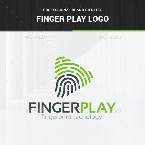 Fingerprint Play Logo Template