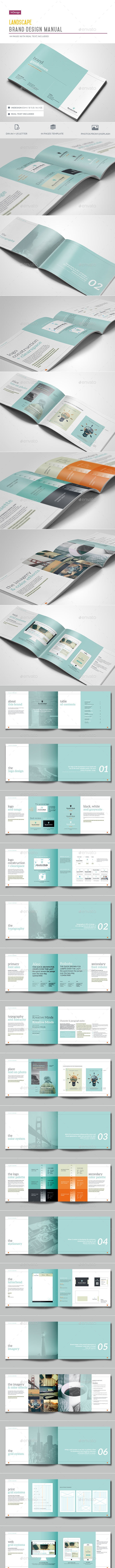 Brand Guidelines - 44 Pages - Corporate Brochures