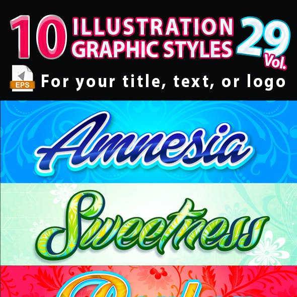 10 Illustrator Graphic Styles Vol.29