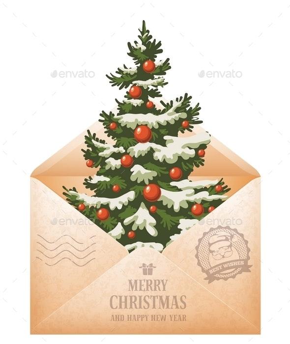 Mail Christmas Card - Christmas Seasons/Holidays