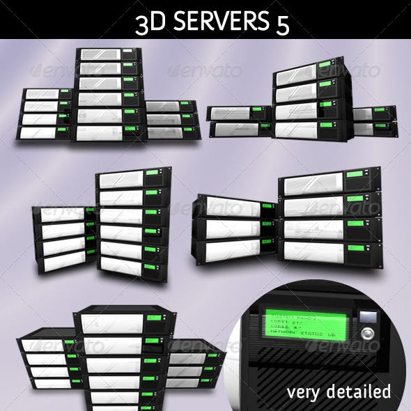 3D Servers - Pack 5 - Hosting Solution