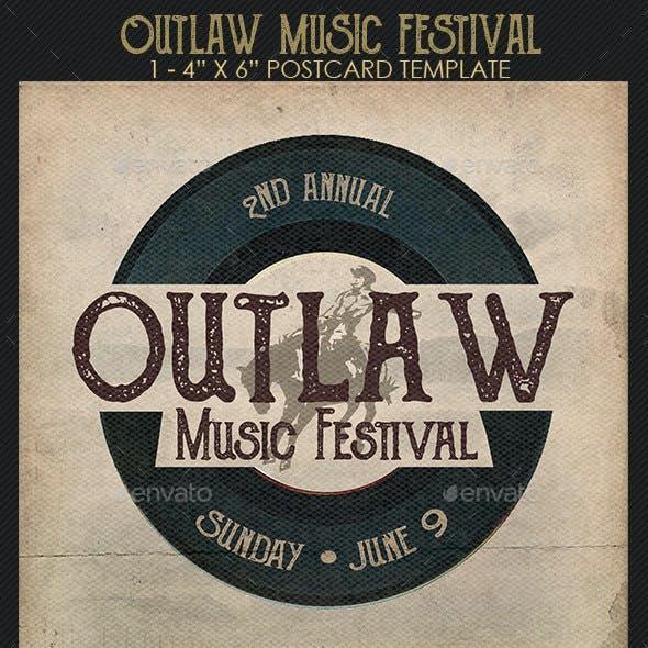 Outlaw Music Festival Flyer Template