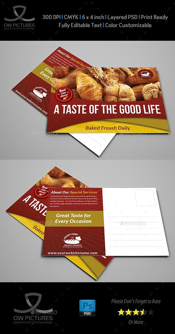 Bakery Postcard Template - Cards & Invites Print Templates