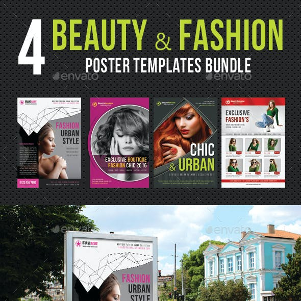 4 in 1 Beauty and Fashion Poster Bundle 04