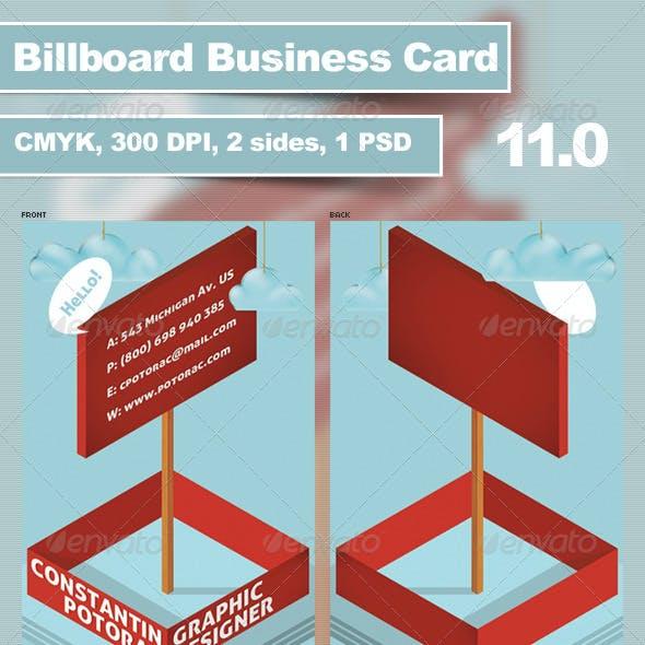 Billboard Business Card 11.0