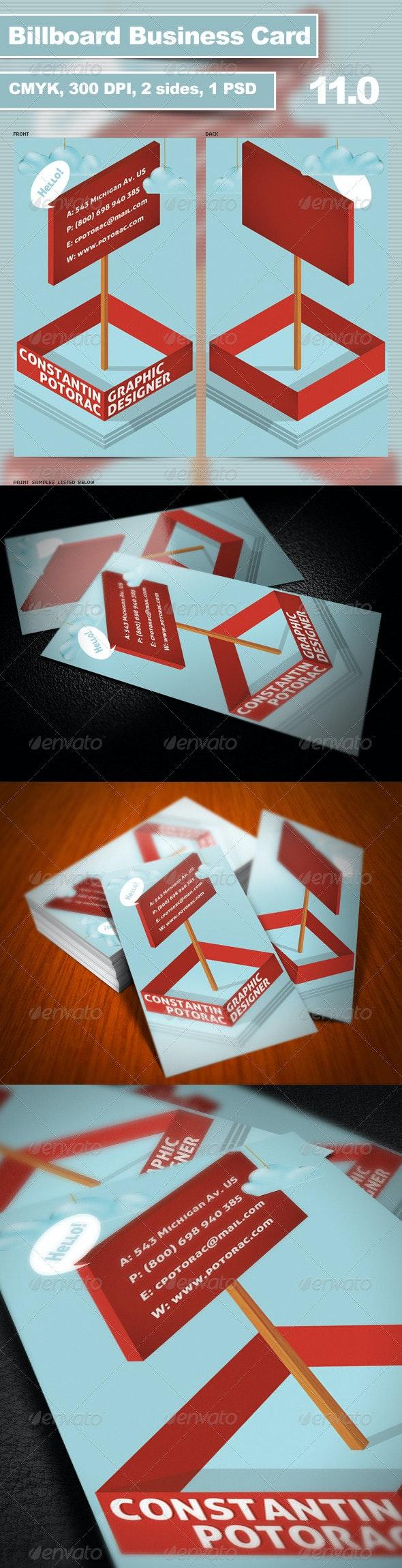 Billboard Business Card 11.0 - Creative Business Cards