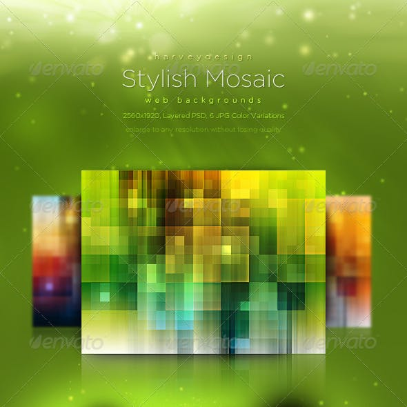 Stylish Mosaic Web Backgrounds