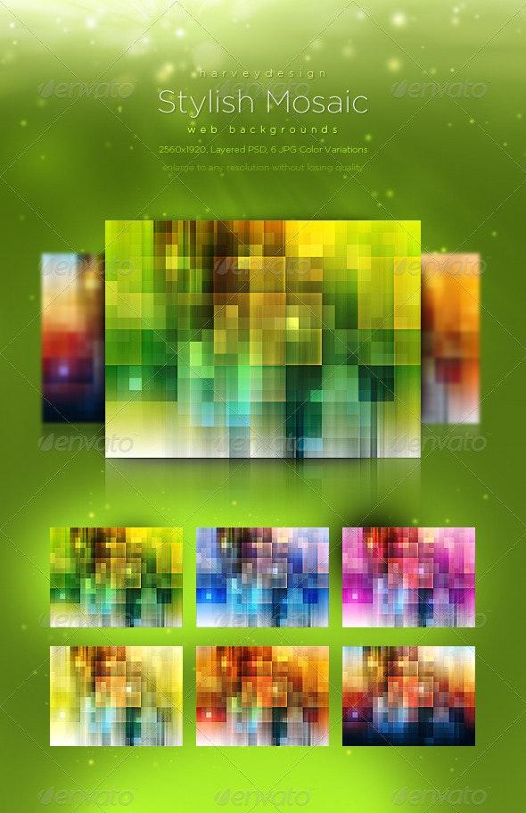 Stylish Mosaic Web Backgrounds - Backgrounds Graphics