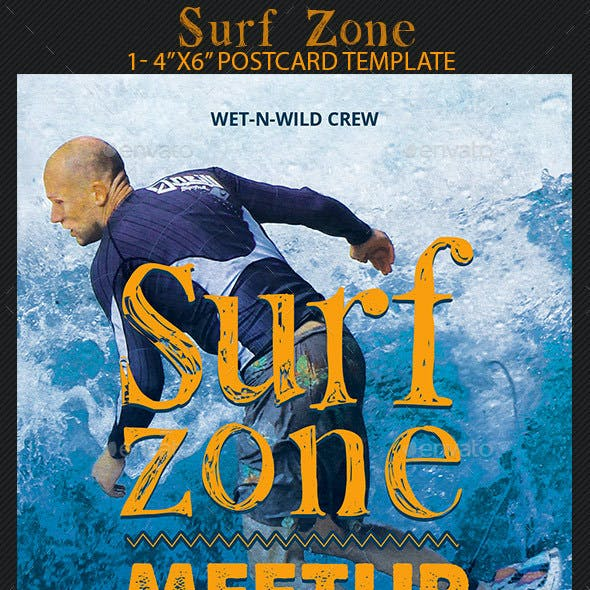 Surf Zone Flyer Template
