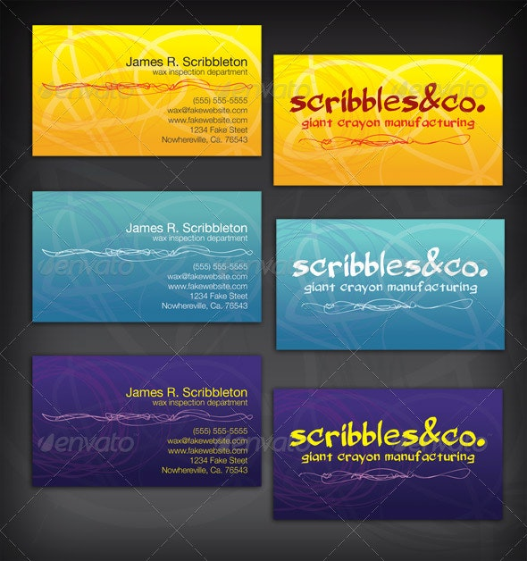 Fun Scribbly Business Card Template - Creative Business Cards