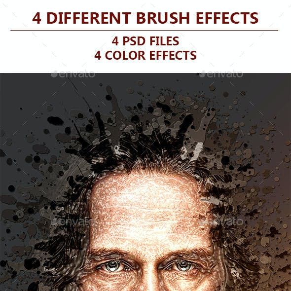 4 Different Brush Effects