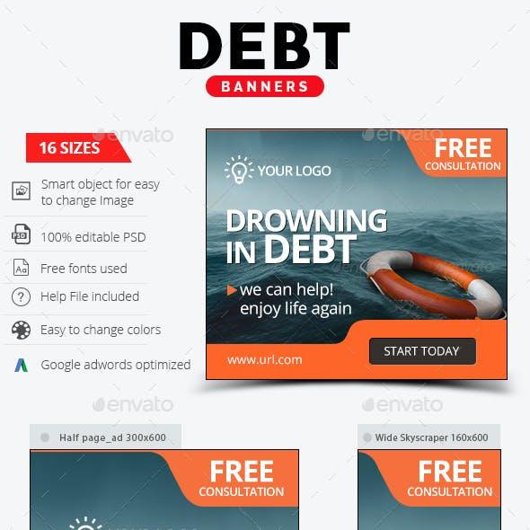 Debt Relief Banners