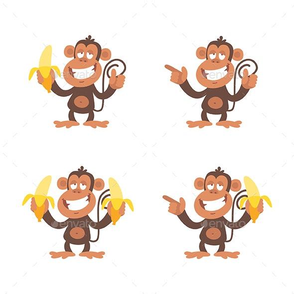Monkey and Bananas - Animals Characters