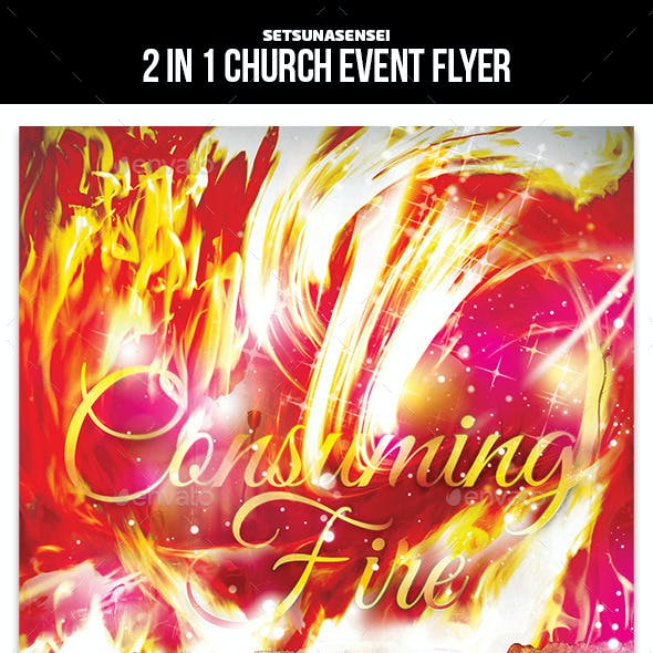 2 in 1 Church Event Flyer