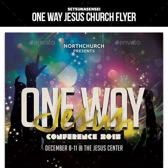 One Way Jesus Flyer