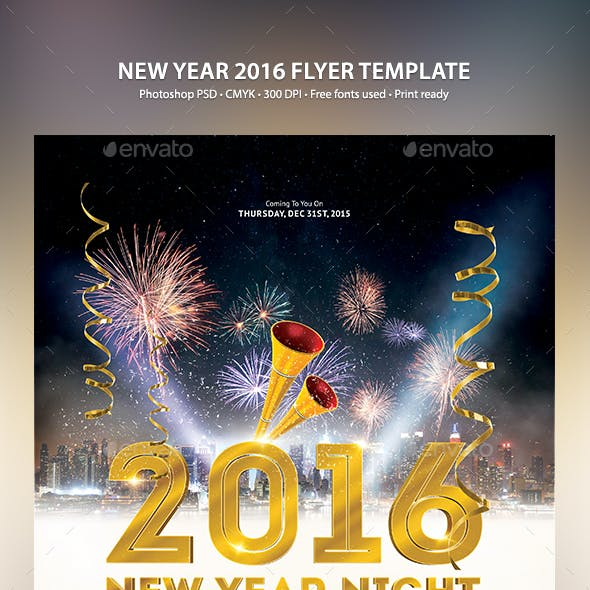 New Year 2016 Flyer Template