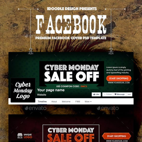 Cyber Monday Covers Facebook