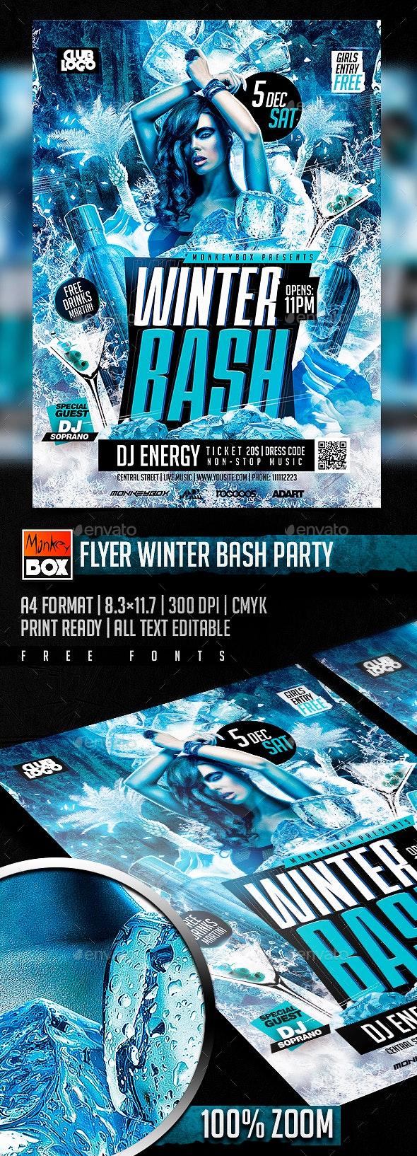Flyer Winter Bash Party - Flyers Print Templates