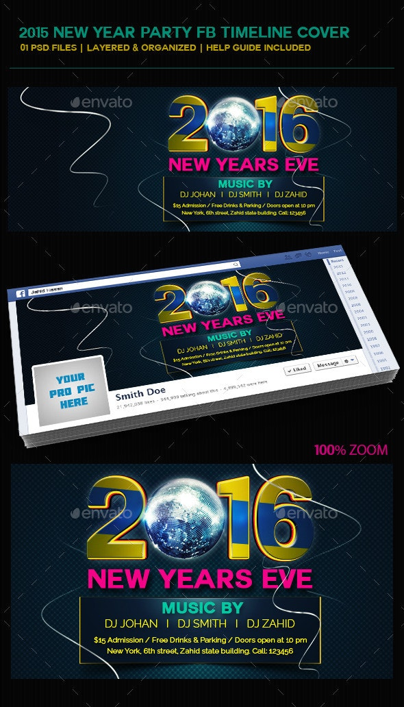 2016 New Year FB Timeline COver - Facebook Timeline Covers Social Media