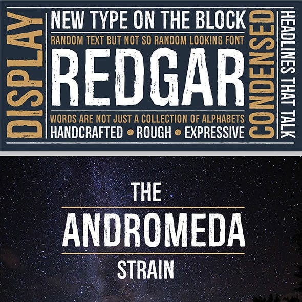 Redgar Typeface